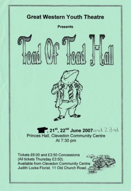 Toad of Toad Hall Poster 2007
